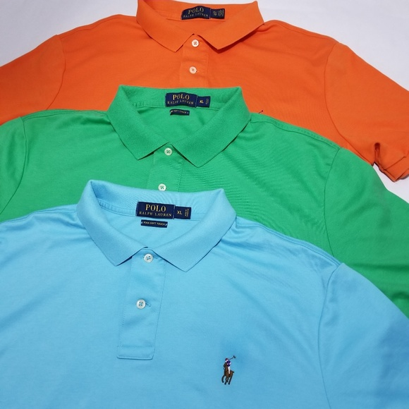 Polo by Ralph Lauren Other - Polo Ralph Lauren Pima Soft Touch Golf Polo Shirts